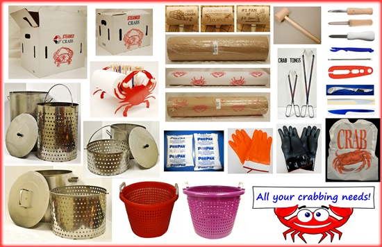 ... Wooden crab mallets, crab paper, lobster crackers, crab