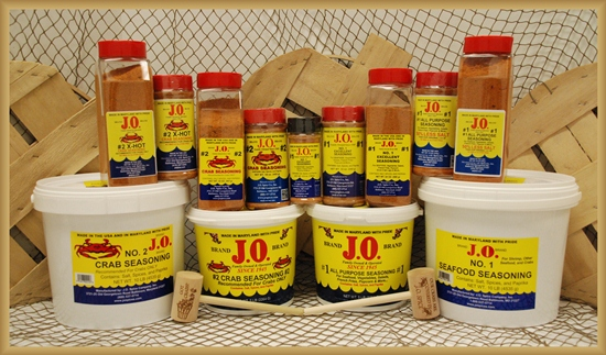 J o seafood crab seasonings products spices maryland for Fish store baltimore